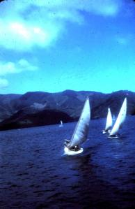 Sailboat race, Lake Nojiri