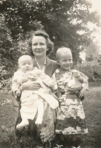 My mother Betty, with my brothers Tom and Jim