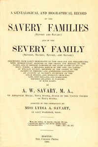 Savary Family Genealogy